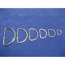 Metal D Rings Buckles for Webbing Strap Tape 10 12 16 20 25 30 35 40 50 mm
