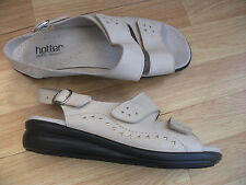 HOTTER 'EASY' LADIES LEATHER SANDALS UK SIZE 7 EURO 41 (EXF)
