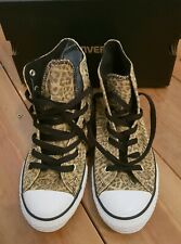 f607b3a8a87f Converse Leopard Animal Print High Tops Size UK 4 Brand New