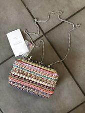 Zara Rare Handmade Sequinned Beaded Minaudière Mini Shoulder Bag Clutch
