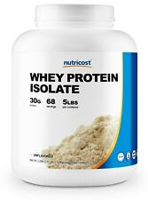 Nutricost Whey Protein Isolate (Unflavored) 5LBS - Premium Protein Powder
