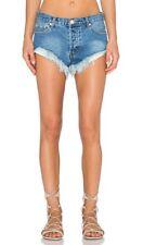 One Teaspoon Rollers Distressed Denim Shorts Size 28