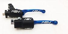 ASV Blue F3 Unbreakable Folding Brake & Clutch Levers Kit YFZ 450R / X All Years