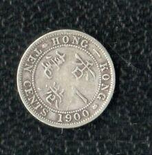 HONG KONG 10 CENTS 1900 SILVER