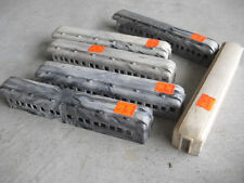 Lot of 6 Vintage HO Scale Marble Gray White Passenger Car Bodies Shells