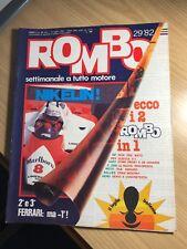 Rivista ROMBO N. 29 1982 LAUDA  VILLENEUVE