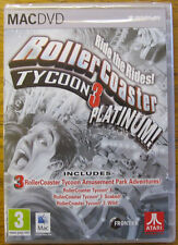 Rollercoaster ROLLER COASTER TYCOON PLATINUM! parco di divertimenti SIM NUOVO RETAIL PACK