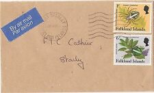 Falkland Islands INsects 1P + 6P 1985 cover (bao)
