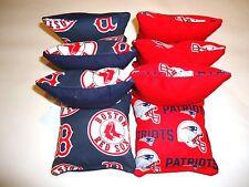 8 Cornhole Bean Bag Toss Set New England Patriots & Boston Red Sox