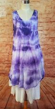 Krista Pearl Aubergine Sheer Handkercheif Cotton Summer Resort Dress