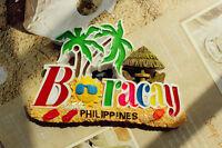 Honeymoon in Philippines Boracay, Travel Souvenir 3D Resin Large Fridge Magnet