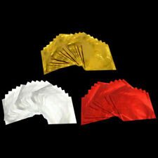 Foil Wrappers Square for Chocolate Sweets Confectionary 80X80mm Pack of 100