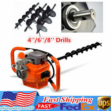 71cc 2 Stroke Gas Power Engine Post Hole Digger 24hp Earth Auger 3 Bit 468