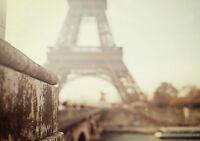 PARIS EIFFEL TOWER BLURRED NEW A3 CANVAS GICLEE ART PRINT POSTER