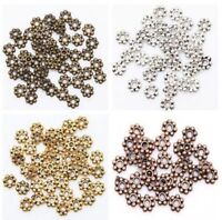 400pcs Retro Silver/Golden/Bronze Stone Findings Daisy Bead 4mm U Pick Color