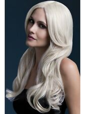 "Long Blonde Fever Wig Ladies Deluxe Fancy Dress Khloe Wig 26"" NEW"