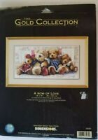Dimensions Gold Collection A Row Of Love Cross Stitch Kit 35039