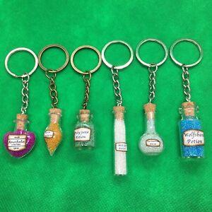 Harry Potter Keyring - Hogwarts Potion Keychain Key - Skele-Gro Polyjuice - NEW