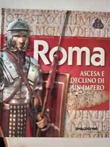 ROMA ASCESA E DECLINO DI UN IMPERO con COVER A RILIEVO E CARTINA POP-UP CART.  l