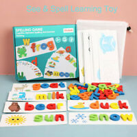 See & Spell Learning Toy Developmental Wooden Toys Learning Vocabulary and Spell
