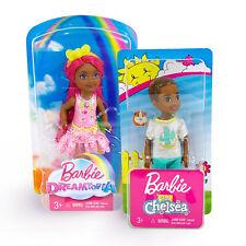 "Barbie Dreamtopia Club Chelsea Kelly 5"" Sprite + Boy Aa African American Dolls"