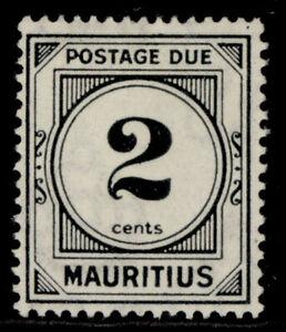 MAURITIUS QEII SG D1, 2c black, M MINT.