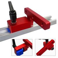 Woodworking Chute T-slot Track Stop Workshop Limiter Miter Track Positioner QS6