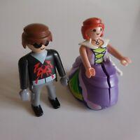 2 figurines PLAYMOBIL GEOBRA couple femme homme jouet vintage collection N5145