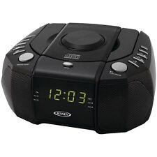 Jensen Jcr-310 Dual Alarm Clock Am/Fm Stereo Radio With Top Loading Cd Player JE