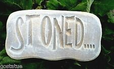 "STONED plastic mold 11"" x 6"" x 1.25"" reusable plaster concrete resin wax casting"