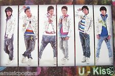 "U-KISS ""PAINT SPLATTERED COATS & JEANS"" ASIAN POSTER-K-pop Korean Boyband Music"