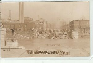 Washington St Bridge Collapse Indianapolis Indiana From West Side March 27 1918
