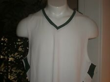 Nwt Russell Dri Power Performance White W/Green Trim Tank Top Sz:L