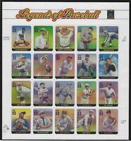 US MNH Stamps - Scott # 3408 - Legends of Baseball - Complete Sheet