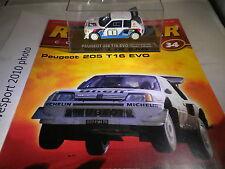 DeAgostini Auto da Rally Raccolta numero 34 1986 PEUGEOT 205 T16 EVO Timo SALONEN