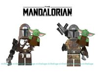 NEW Baby Yoda The Mandalorian With Baby Yoda - Star Wars Lego Moc Minifigure Toy