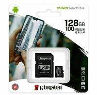 KINGSTON 32GB 64GB 128GB CANVAS SELECT PLUS MICRO SD CARD ADAPTER CLASS 10