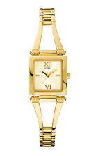 GUESS W10247L1 TIME SQUARE  Damenuhr Edelstahlband gelbgold