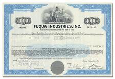 Fuqua Industries, Inc. Stock Certificate