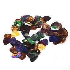 100PCS Fashion Acoustic Bulk Celluloid Electric Guitar Pick Plectrum Smooth AUU