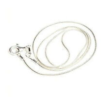 """Silver Tone Lobster Clasp Snake Chain Necklaces 25"""""""