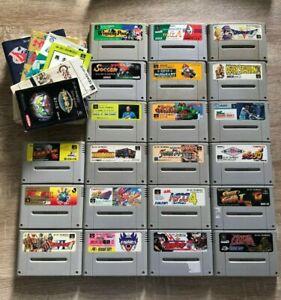 Lot 21 jeux Super Famicom import JAPAN SNES Nintendo SFC SHVC-MK SHVC-RX Livret