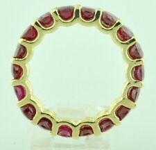 14k Yellow Gold Natural Ruby Eternity Ring Shared prong setting birthday 6.25 ct
