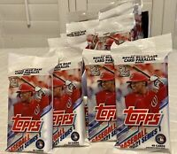 2021 Topps Baseball Series 1 - Lot Of 4 Fat Packs - 160 Cards -  Blue Parallels!