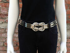 Silver and Bronze Colored Steampunk Metal Belt with Bow (one size fits most)