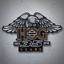 """Genuine HARLEY DAVIDSON 5 inch """"Eagle & Wings"""" 35th ANNI HOG COLORED PATCH"""