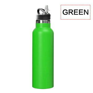 Stainless Steel Sports Water Bottle Metal Flask Double Wall Insulated Vacuum Gym
