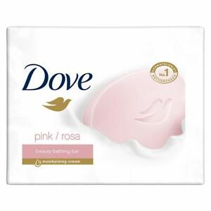 Dove Pink Rosa Beauty Bathing Bar With ¼ Moisturizing Cream pack of 3