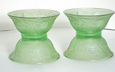 "Bowls Salad Dessert Tiara Light Green Chantilly Sandwich 5.5"" Diam 4pcs Vtg"