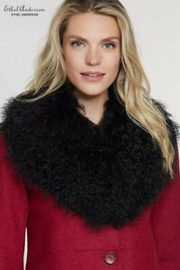 Style Women Real Mongolia Lamb Big Fur Collar Scarves Classic Fur Fashion Shawls